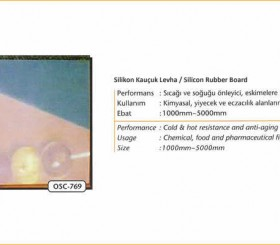 Kauçuk Ürünler - Rubber Products